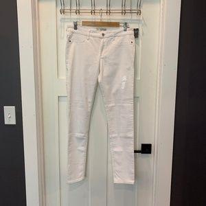 A&F White Skinny Jean